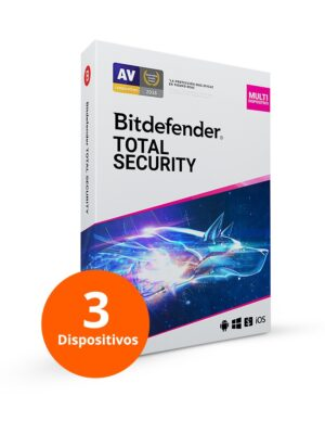 Bitdefender Total Security 3 Usuarios 1 año- Tecnokefren